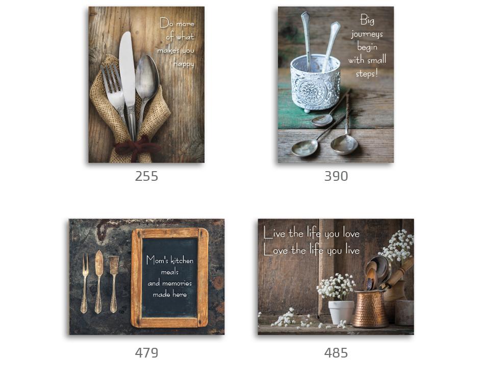 סט של 4 תמונות השראה מעוצבות לתינוקות, לסלון, חדר שינה, מטבח, ילדים - תמונות השראה מטבח 28