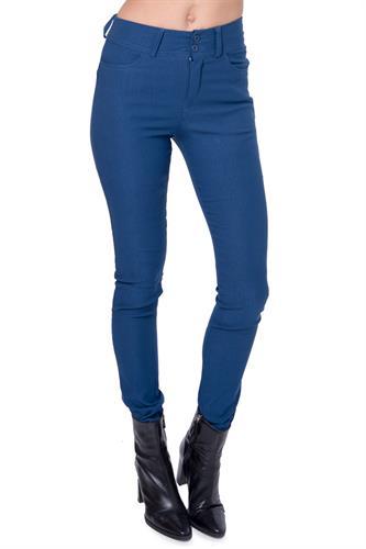 מכנס גבוה עם 2 כפתורים בצבע כחול רויאל