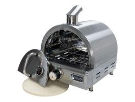 תנור פיצה נייד מנירוסטה עם אבן שמוט