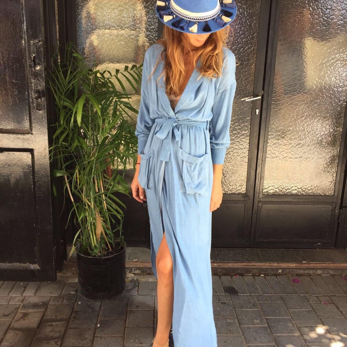 שמלת ננסי ג'ינס בהיר