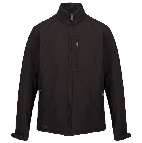מעיל סופטשל גברים דגם Cato II בצבע שחור תוצרת REGATTA