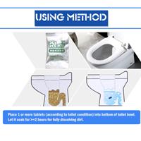 4 קפסולות טיהור החיידקים וניקיון האסלה