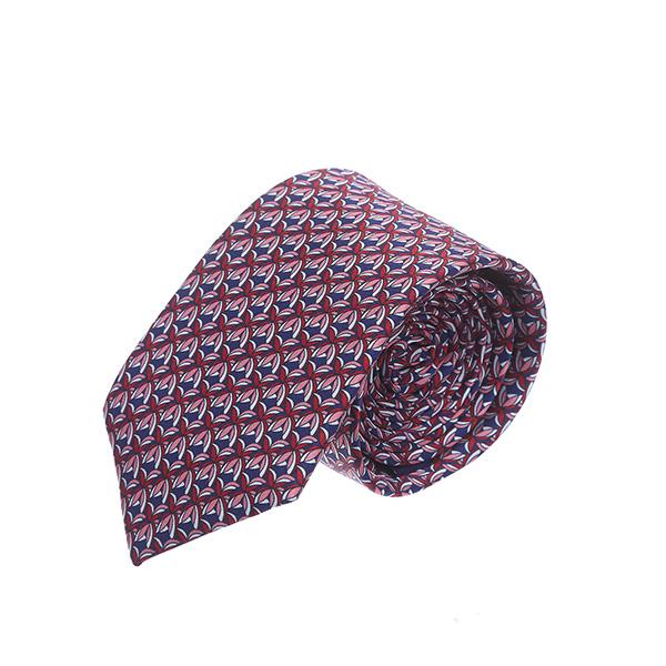 עניבה עלים אדום כחול