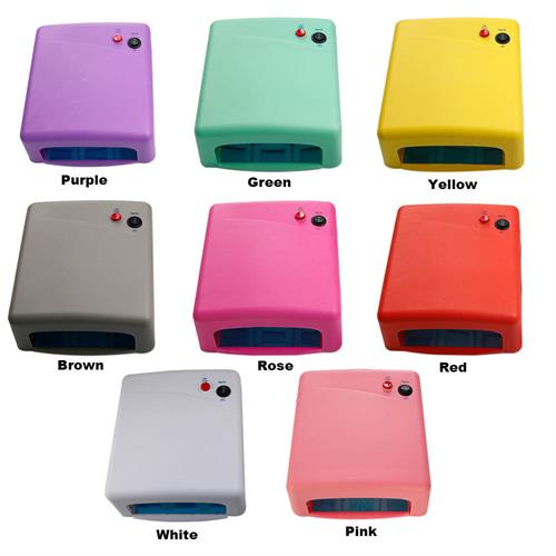 מכשיר לייבוש ציפורניים לק ג'ל UV מנורות 36W 4X 9W במגוון צבעים לבחירה
