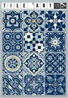 """מדבקות אריחים 10*10 ס""""מ אקלקטי כחול מלכותי   TIVA DESIGN"""