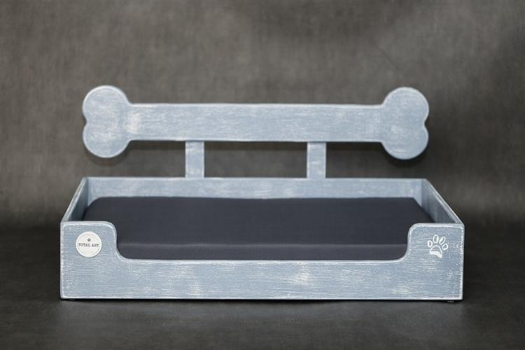 מיטה לכלב- בונזי XL אפור בטון