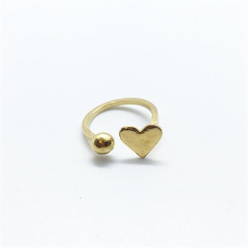טבעת לב חדש זהב