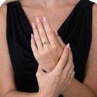 טבעת זהב 14 קראט משובצת בבלוטופז