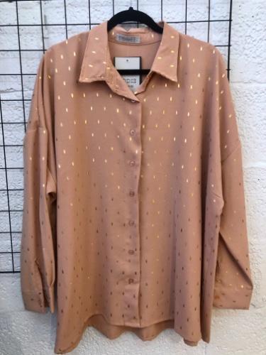 חולצת מיילי פויליים זהב