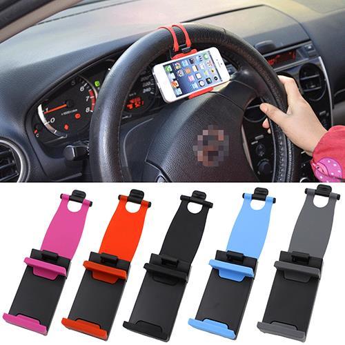 Protable Car Smart Phone GPS Holder Car Steering Wheel Bike Clip Mount Eyeful