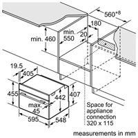 תנור בנוי משולב מיקרוגל Bosch CMG633BB1