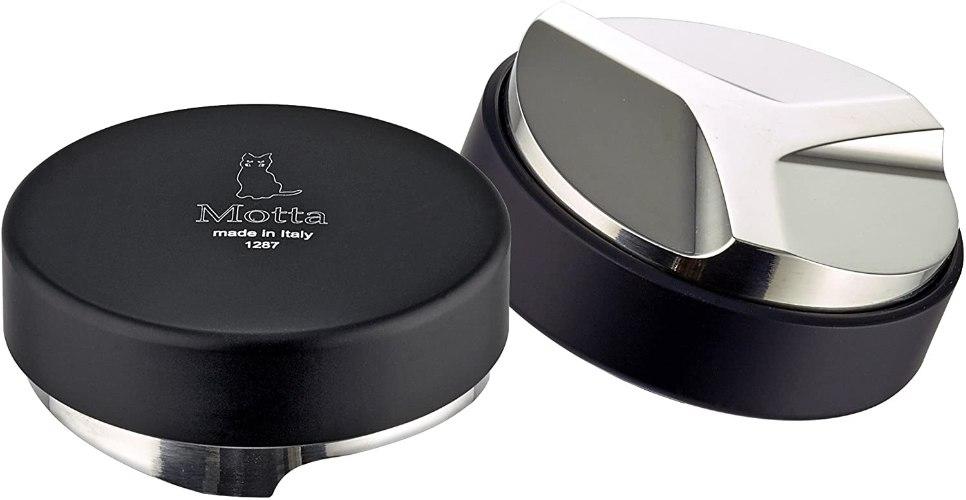 כלי לפילוס קפה בידית מוטה 8350  Motta Barista Coffee Leveling Tool, 58 mm, Black
