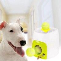 משגר כדורי טניס אינטראקטיבי אוטומטי לכלבים