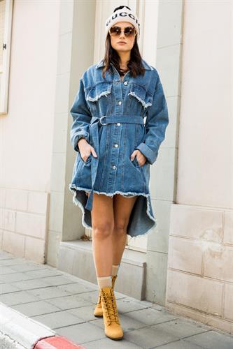 שמלת ג'ינס כפתורים