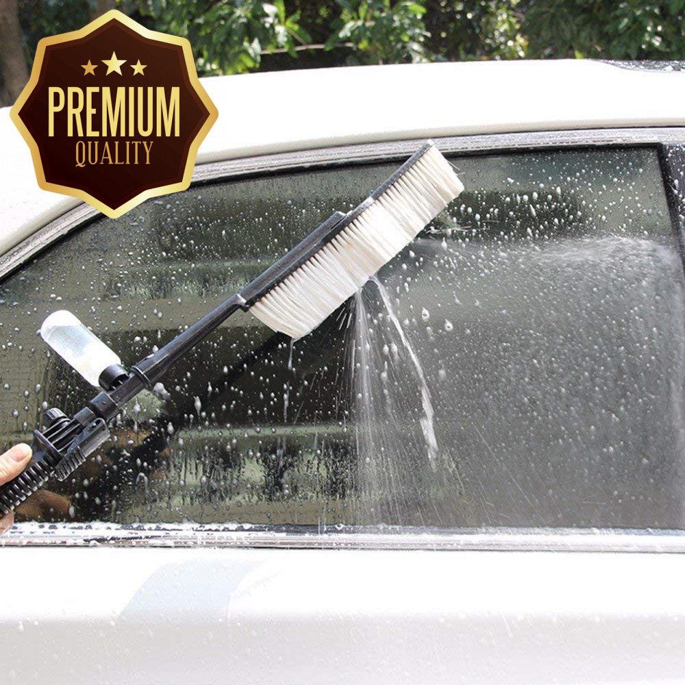 הדרך הנכונה לשטוף את הרכב - מברשת מקצועית