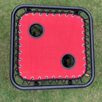 שולחן קיימפינג כולל 2 פתחים יעודיים עם רשת לכוסות
