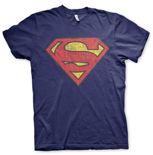 לוגו סופרמן - כחול נייבי