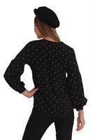 חולצת אולידיי נקודות שחור