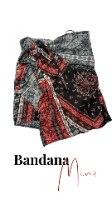חצאית מיני מעטפת בנדנה אדום אפור שחור
