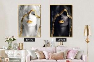 מבחר חדש של תמונות לקיר בגודל 100*70 מ' בשילוב מסגרת שחור/לבן/זהב