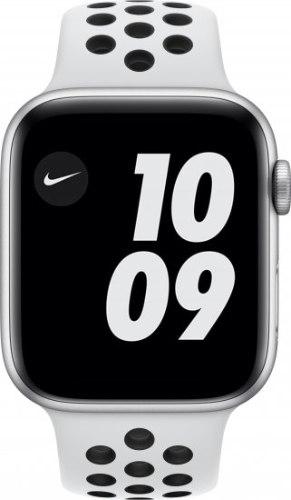 שעון חכם Apple Watch Nike Series 6 GPS + Cellular 44mm Silver Aluminum צבע רצועה Platinum/B