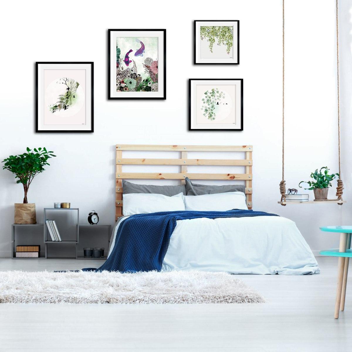 סט תמונות לחדר שינה פנג שואי
