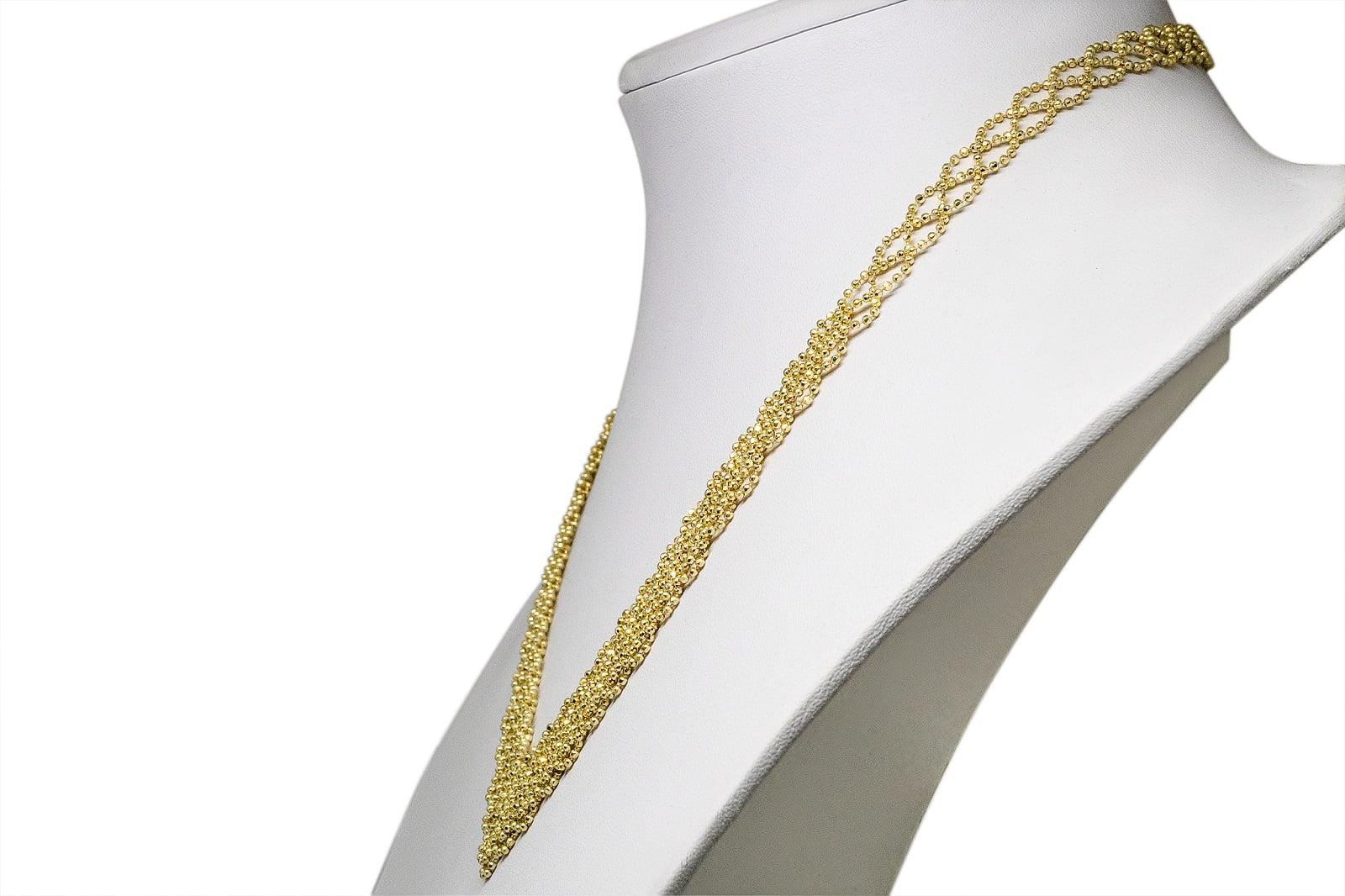 שרשרת זהב לאשה שרשרת זהב סרוגה  לאשה שרשראות זהב לנשים