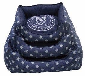 מיטה מלבנית כוכבים 40 סמ כחולה