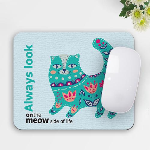 פד מעוצב לעכבר | משטח לעכבר חתול טורקיז