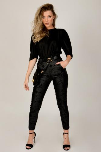 חולצת מישל שחורה