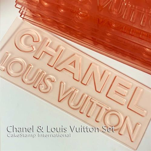 Set Chanel and Louis Vuitton Logo -  Two Stamps