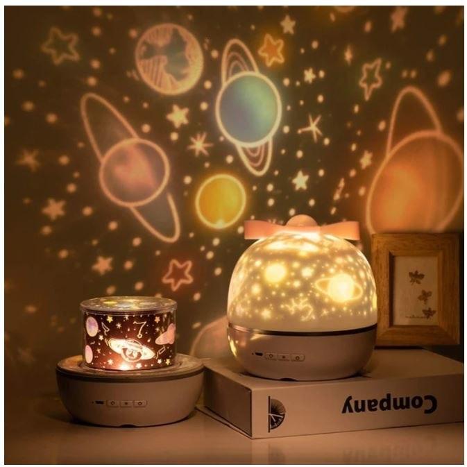 מנורת לילה מקרינה אפקטים מגוונים ומרהיבים בהתאמה אישית