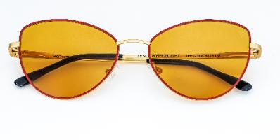 משקפי היפרלייט (נגד קרינה) דגם THE-0701RD צבע אדום Butterfly