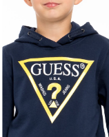 קפוצ׳ון כחול לוגו GUESS צהוב בנים - 7-16 שנים
