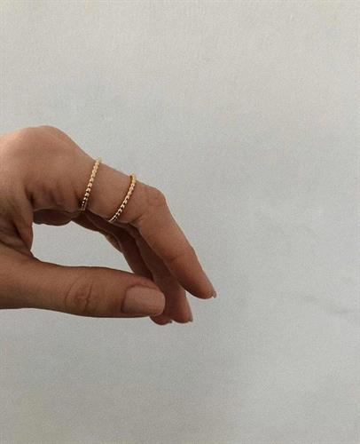 טבעת פלורי דקה זהב