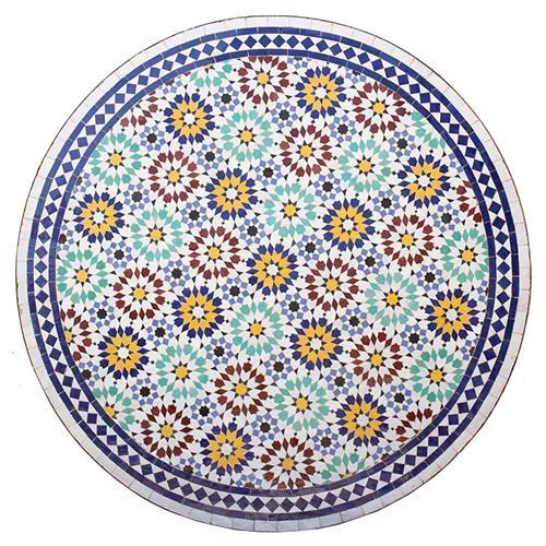 שולחן מוזאיקה 1.20 מ' כוכבים