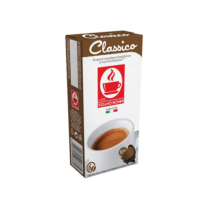 10 קפסולות קפה בוניני Classico תואם נספרסו - חוזק 6