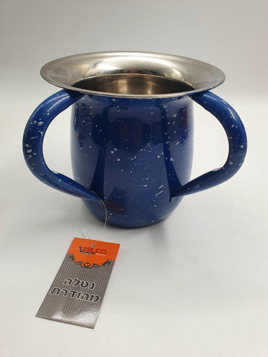 נטלה מהודרת ממתכת גוון כחול
