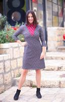 שמלת אירוס נקודות שחור עם אדום.