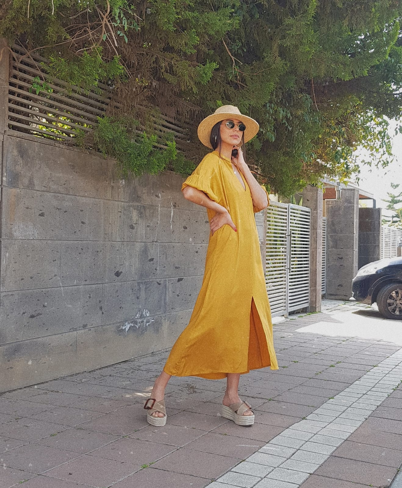 שמלת אסיה - חרדל