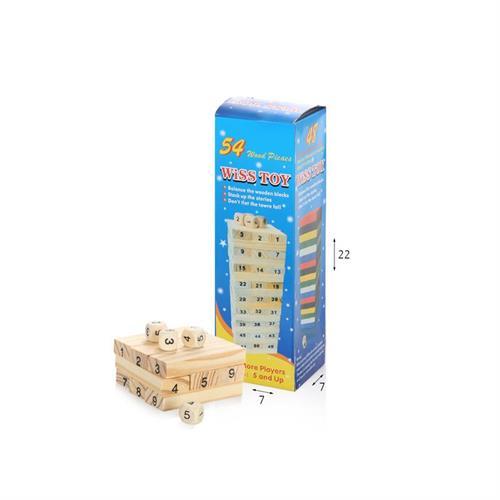 קפלה עץ 54 חלקים בקופסא