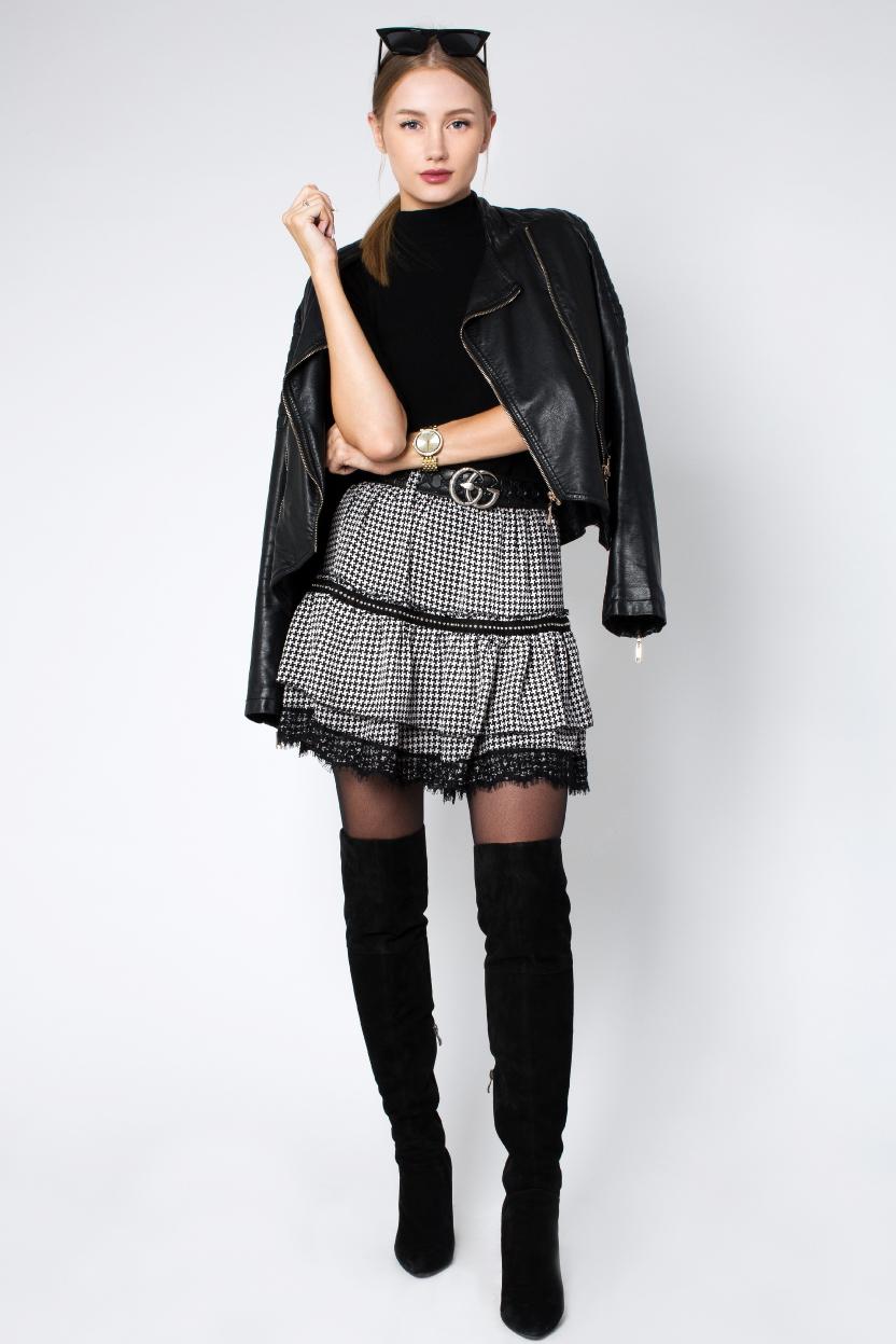 חצאית פפיטה אפור