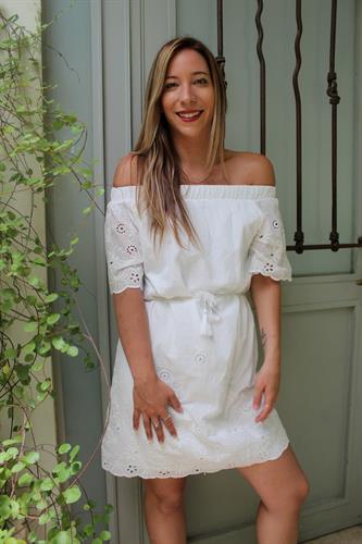 שמלת קרושה לבנה