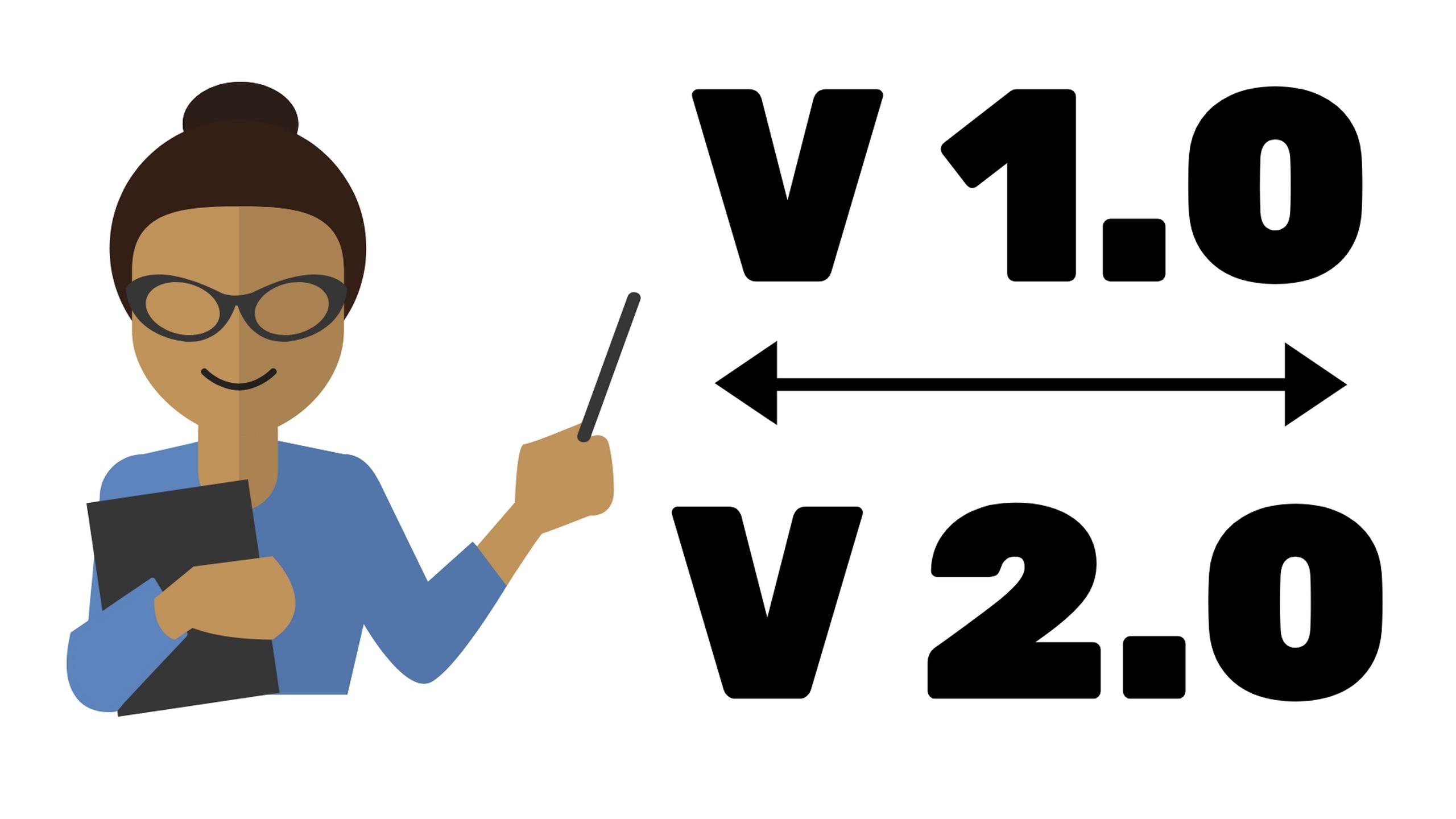הבדלים בין V 1.0 ל V 2.0