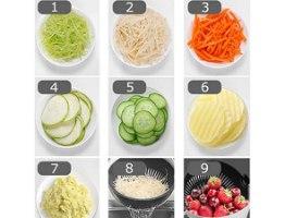חותך ירקות מנדולינה משוכללת משולבת מסננת