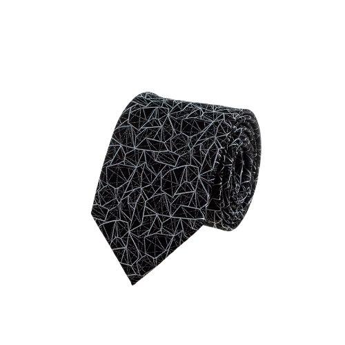 עניבה דגם גאומטרי שחור