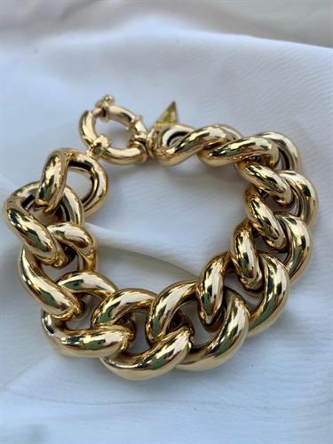צמיד גורמט אניה 1.7 סמ זהב