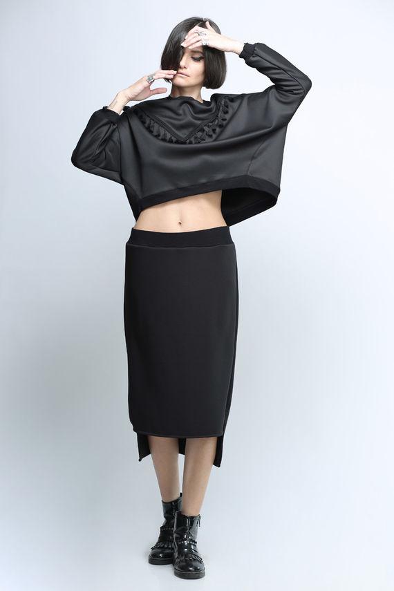 חצאית ריהאנה שחורה