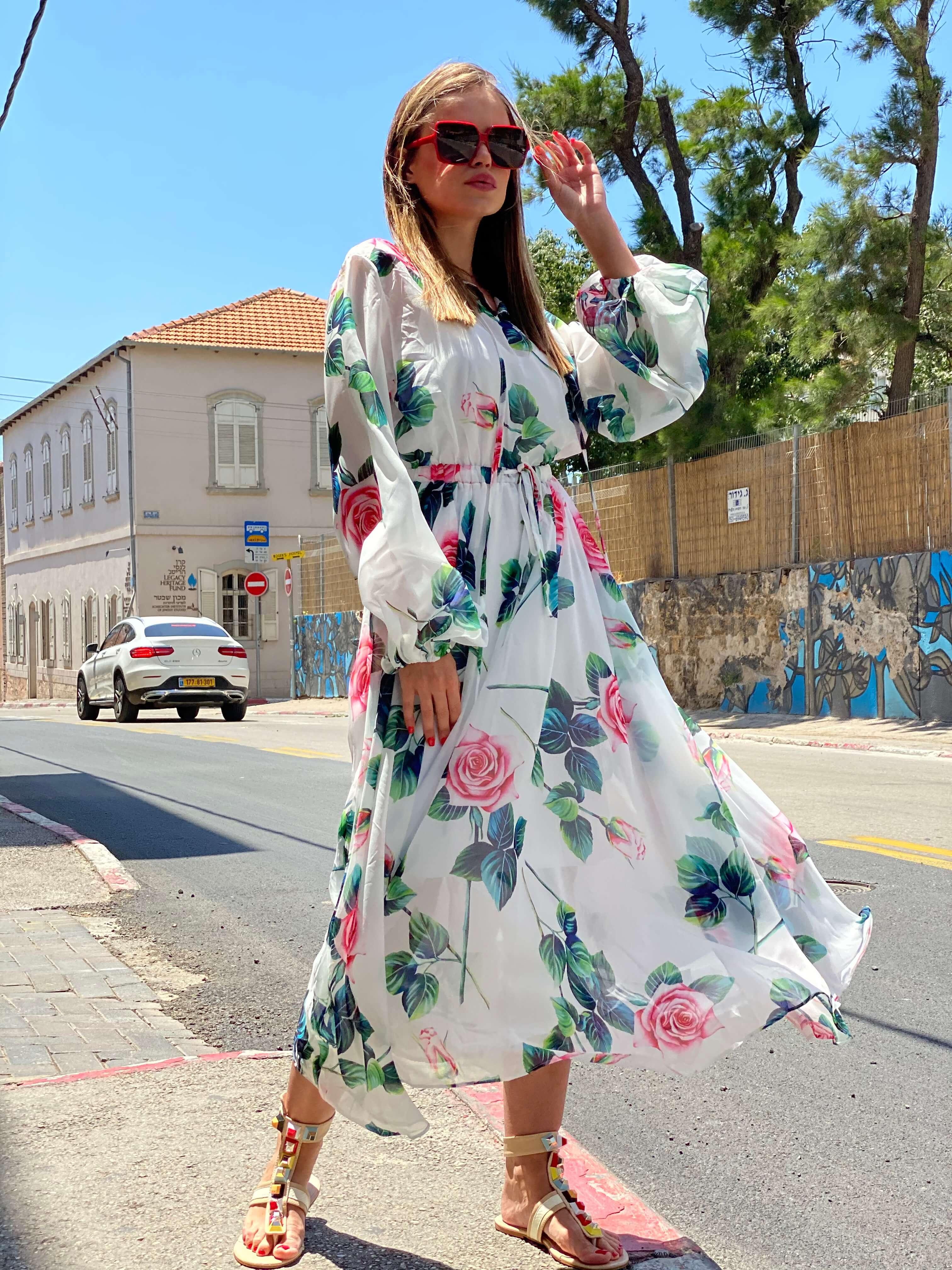 שמלת ליידי פרחים
