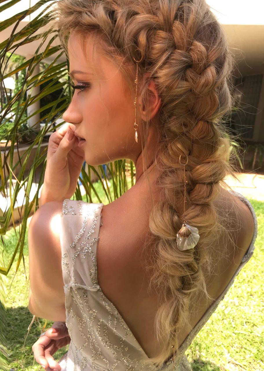 פיסים זהב אדום לשיער -  צדפות קטנות וגדולות